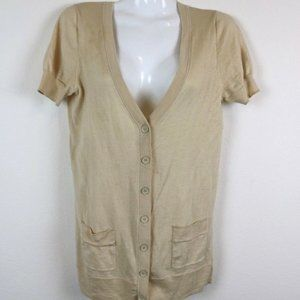 J Crew Womens Cardigan Short Sleeve V Neck Pocket